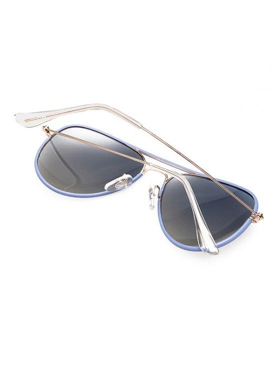 Full Rims Metal Pilot Sunglasses - BLUE  Mobile