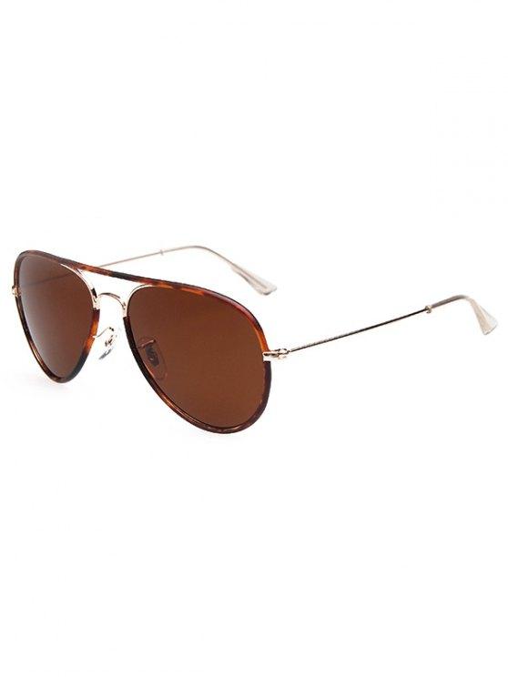 Full Flecky Rims Pilot Sunglasses - DEEP BROWN  Mobile
