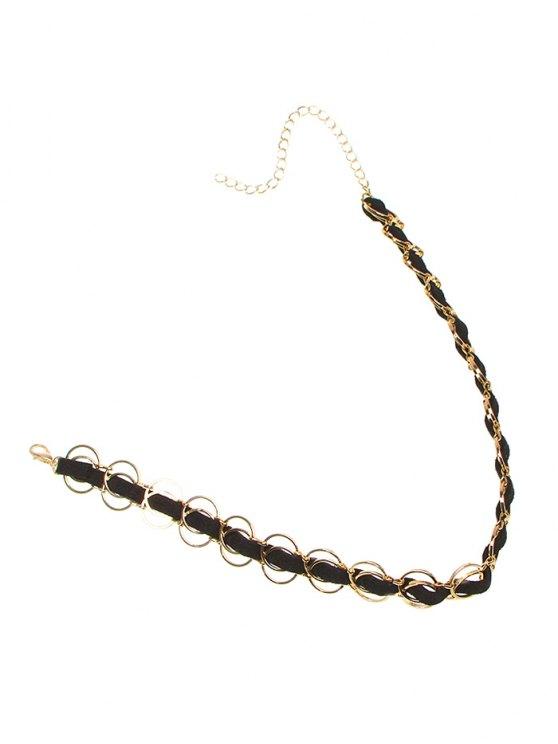 Circles Choker Necklace - GOLDEN  Mobile