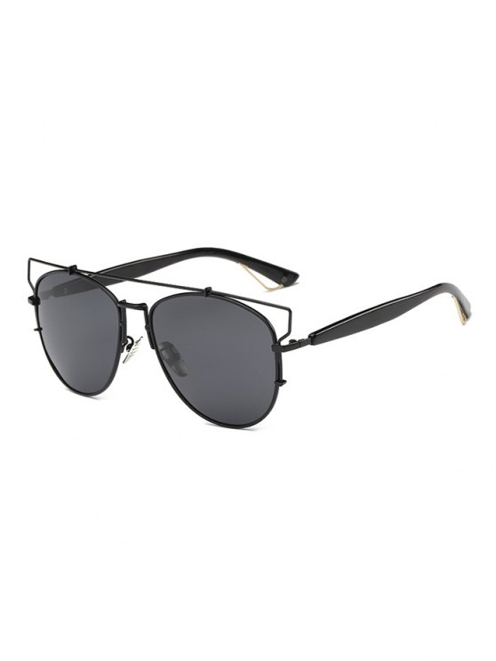 Crossbar Metal Sunglasses - BLACK  Mobile