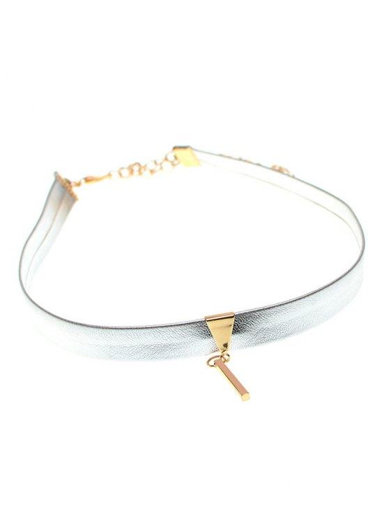 Shiny Choker Necklace - SILVER  Mobile