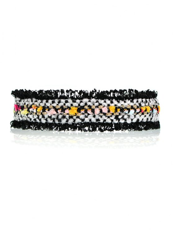 Fuzzy Knitted Fringed Choker -   Mobile