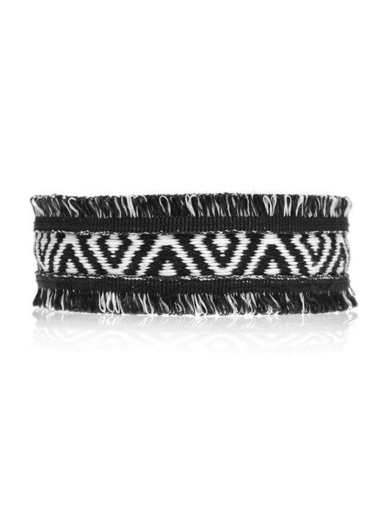 Geometric Knitted Choker - BLACK  Mobile