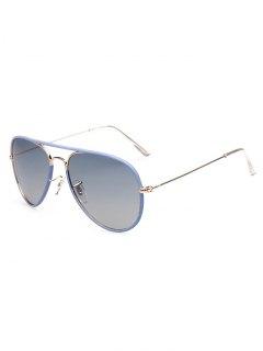 Full Rims Metal Pilot Sunglasses - Blue