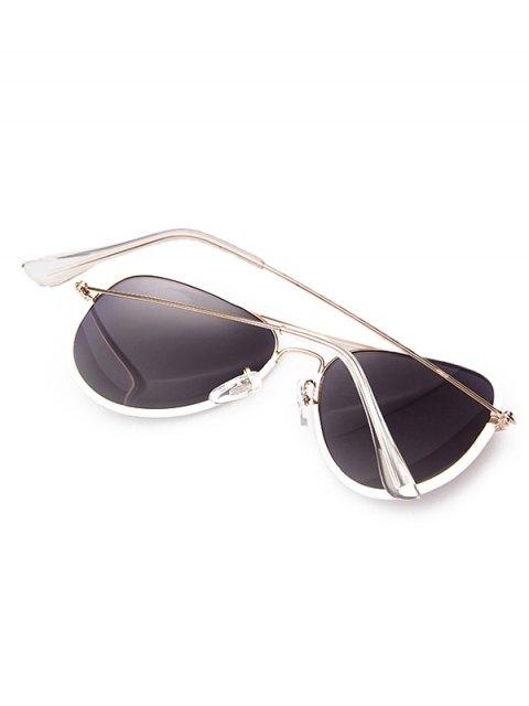 new Full Rims Metal Pilot Sunglasses - WHITE  Mobile
