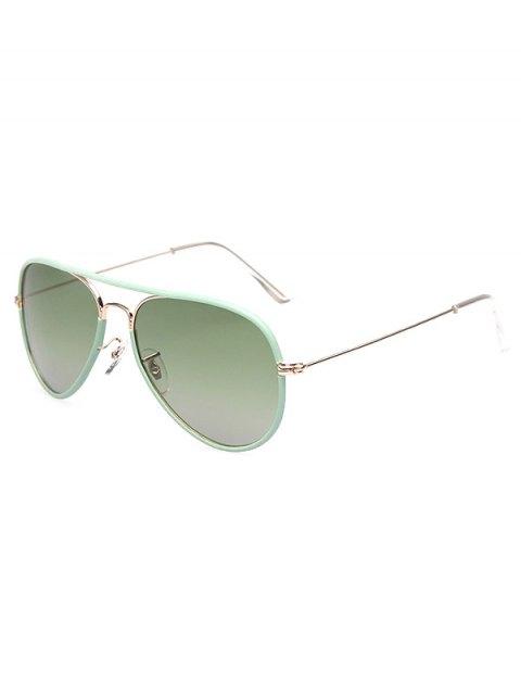 outfit Full Rims Metal Pilot Sunglasses - GREEN  Mobile