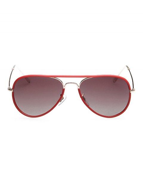shop Full Rims Metal Pilot Sunglasses - RED  Mobile