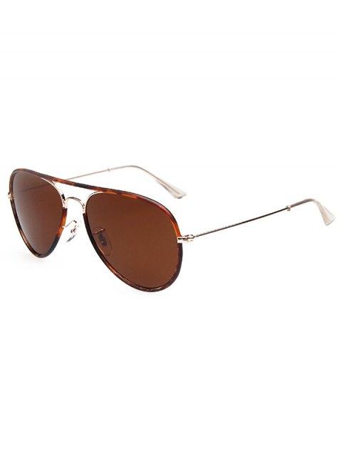 latest Full Flecky Rims Pilot Sunglasses - DEEP BROWN  Mobile