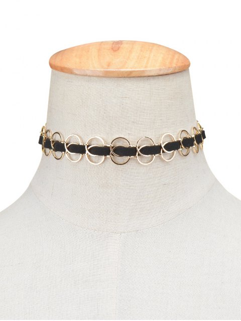 new Circles Choker Necklace - GOLDEN  Mobile