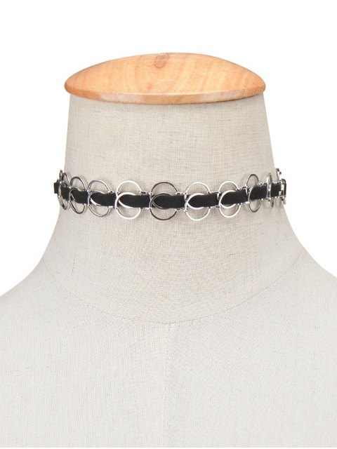 hot Circles Choker Necklace - SILVER  Mobile