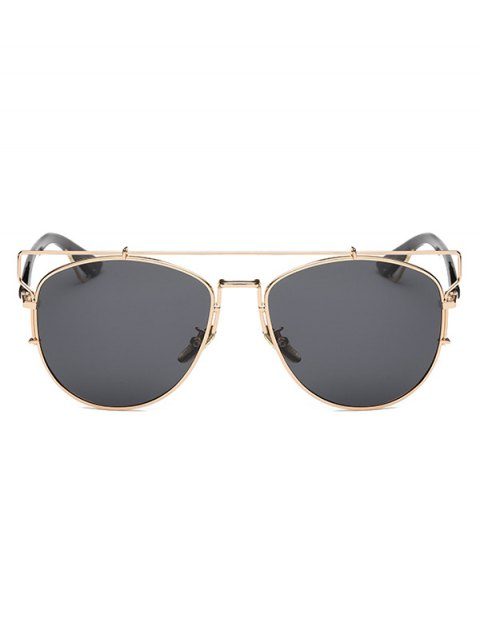 buy Crossbar Metal Sunglasses - GOLDEN  Mobile