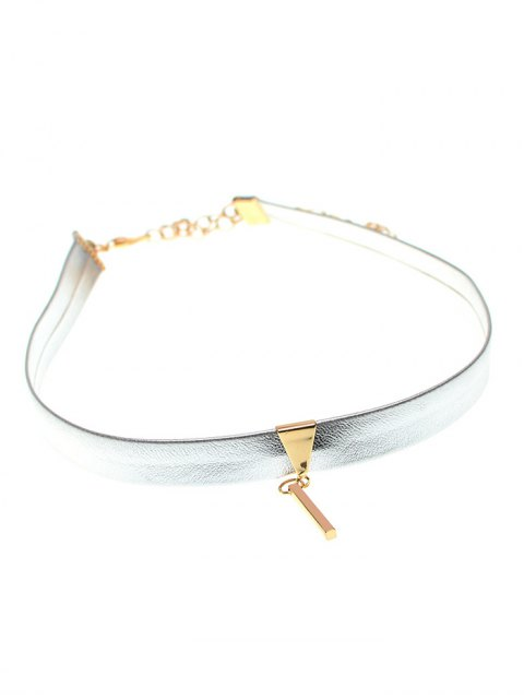 outfits Shiny Choker Necklace - SILVER  Mobile
