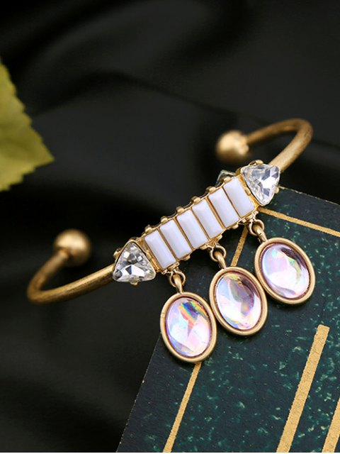 affordable Faux Gem Oval Cuff Bracelet -   Mobile
