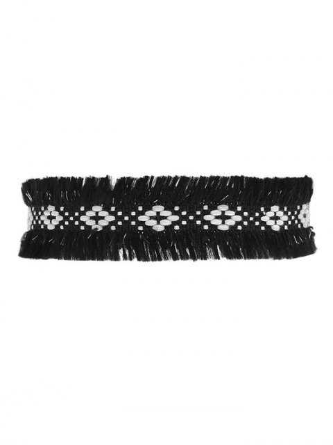 chic Woven Fringed Choker Necklace -   Mobile