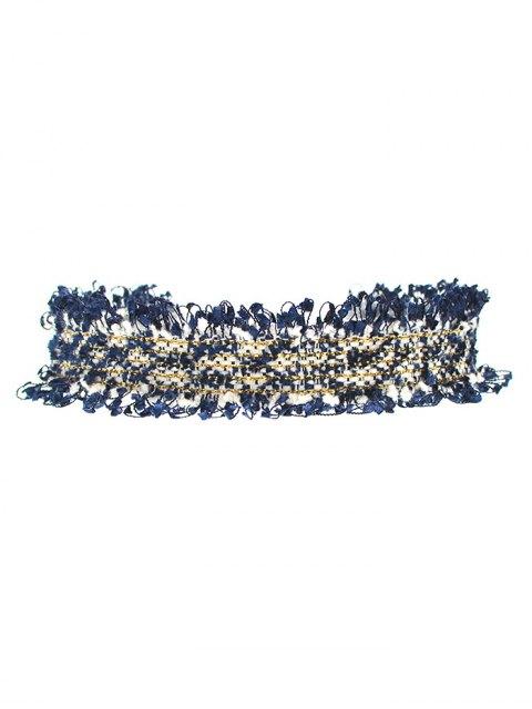 buy Knitted Fringed Choker -   Mobile