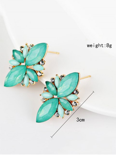sale Artificial Gems Embellished Candy Color Earrings - AZURE  Mobile