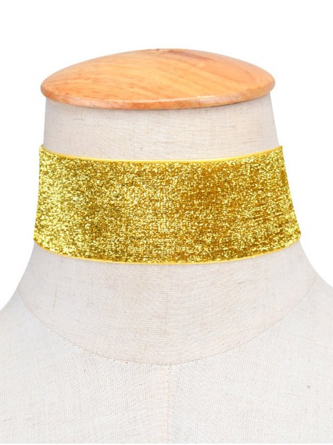 latest Adorn Velvet Vintage Choker Necklace - GOLDEN  Mobile