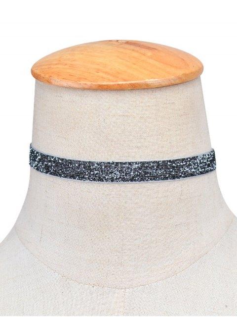 fancy Embellished Velvet Necklace - GRAY  Mobile