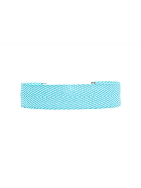 affordable Geometric Printed Choker Necklace - BLUE  Mobile