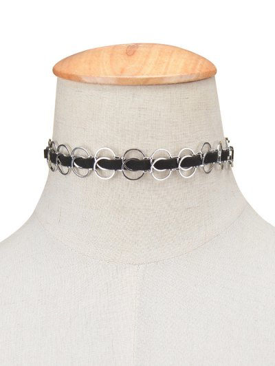 Circles Choker Necklace - SILVER  Mobile