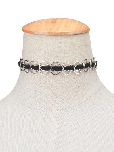 Circles Choker Necklace - SILVER  Mobile