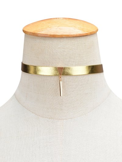 Shiny Choker Necklace - GOLDEN  Mobile