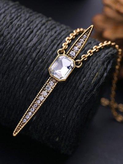 Vintage Rhinestone Necklace - WHITE  Mobile