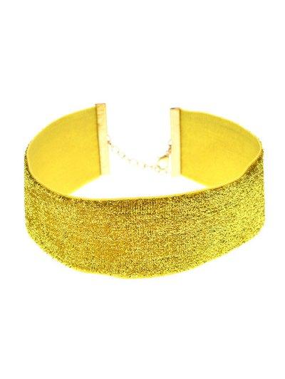 Adorn Velvet Vintage Choker Necklace - GOLDEN  Mobile