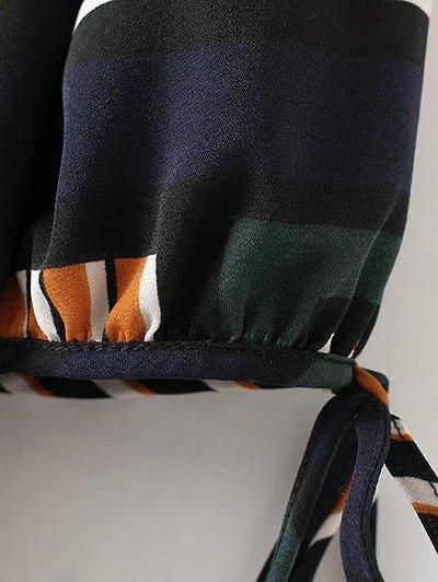 Checked Ruffle Hem Midi Dress - MULTICOLOR S Mobile