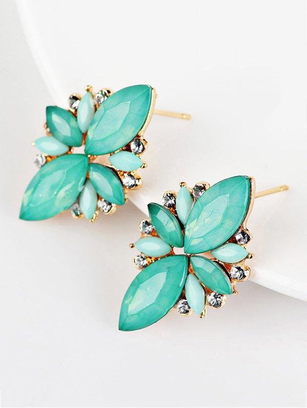 Faux Gems Embellished Earrings