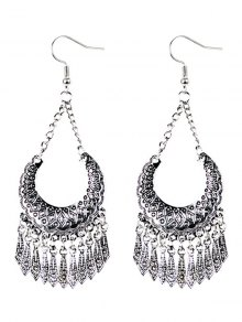 Geometrical Tassel Drop Earrings