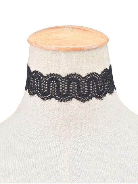 online Vintage Lace U Shaped Choker Necklace - BLACK  Mobile