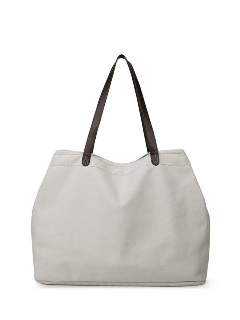 sale Canvas Stitching Shoulder Bag - OFF-WHITE  Mobile