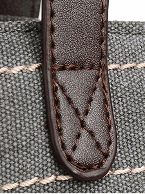 buy Canvas Stitching Shoulder Bag - GRAY  Mobile