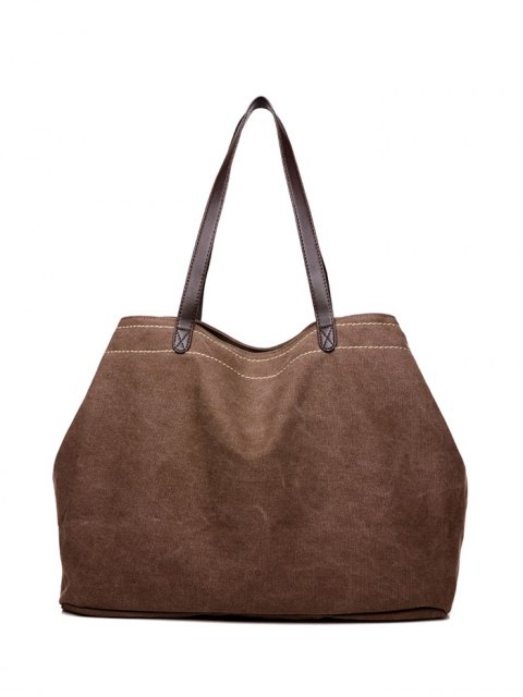 ladies Canvas Stitching Shoulder Bag -   Mobile