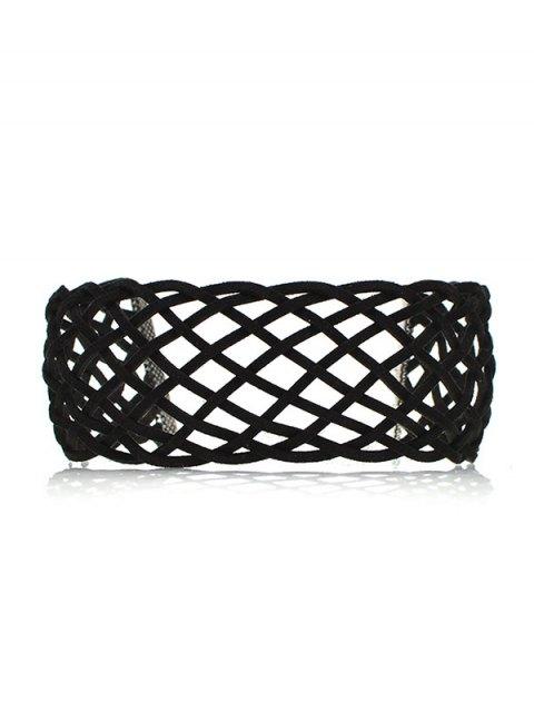unique PU Leather Braid Choker Necklace -   Mobile