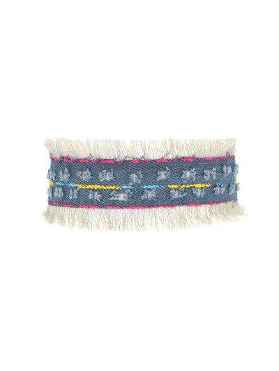 Tassel Vintage Choker Necklace - DENIM BLUE  Mobile