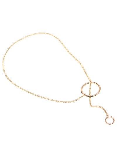 Circle Vintage Chain Necklace - GOLDEN  Mobile