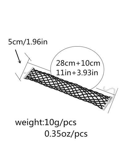 PU Leather Braid Choker Necklace - BLACK  Mobile
