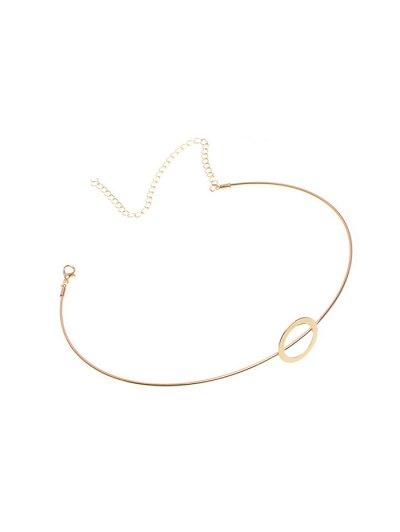 Adorn Alloy Circle Necklace - GOLDEN  Mobile