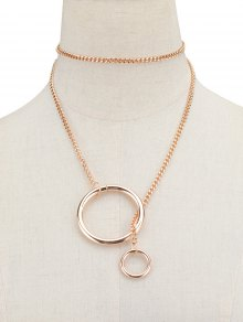 Circle Vintage Chain Necklace