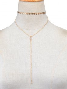 Sequins Vintage Layered Necklace - Golden