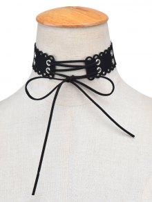 Punk Bowknot Hollow Out Velvet Choker
