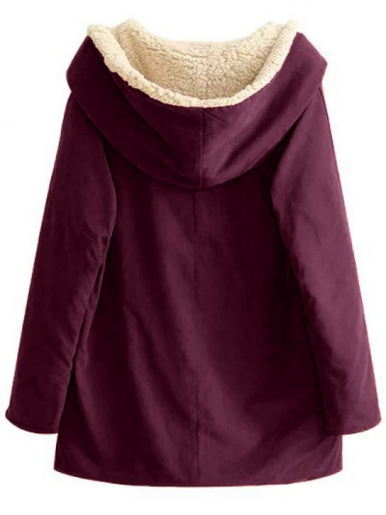 Fleece Lining Hooded Swing Coat - SPICE S Mobile