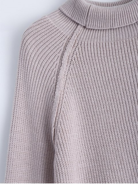 trendy Patch Sleeve Chunky Sweater - SMASHING ONE SIZE Mobile