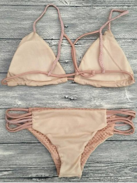 online Braid Strappy Grid Bikini Set - COMPLEXION S Mobile