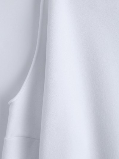 Cold Shoulder High Neck Sweatshirt - WHITE 2XL Mobile