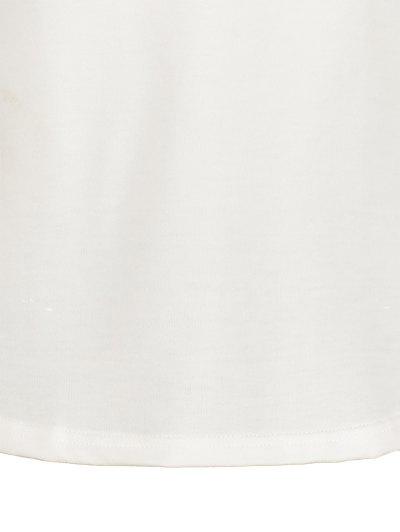 Color Block Raglan Sleeve Casual T-Shirt - WHITE M Mobile