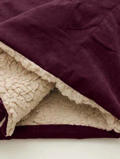 Fleece Lining Hooded Swing Coat - SPICE S Mobile