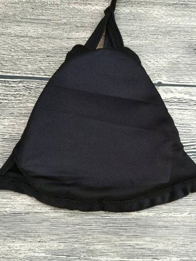 Strappy Printed High Waisted Bikini Set - BLACK XL Mobile